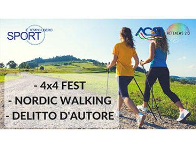 4x4 fest, nordic walking, delitto d'autore: SPORT E TEMPO LIBERO 4 PUNTATA