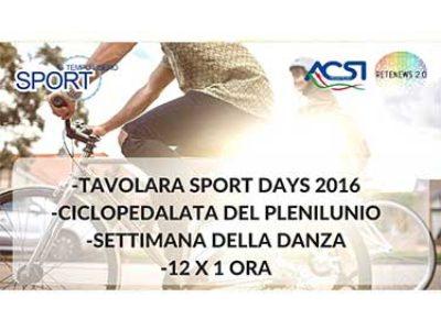 Tavolara Sport Days; Ciclopedalata del Plenilunio; 12 x 1 ora; SPORT E TEMPO LIBERO - 2 PUNTATA