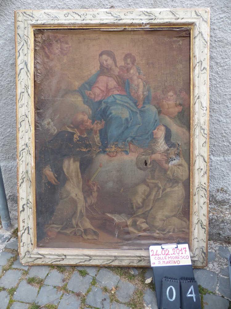 Sisma Centro Italia, 73 opere recuperate a Roccasalli e Collemoresco nel reatino
