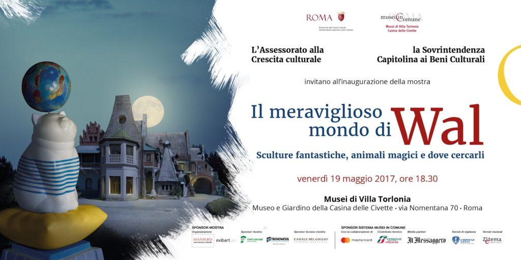 """PRESENTATA OGGI LA MOSTRA """"IL MERAVIGLIOSO MONDO DI WAL"""" Roma, Casina delle Civette, 20 maggio - 1° ottobre"""