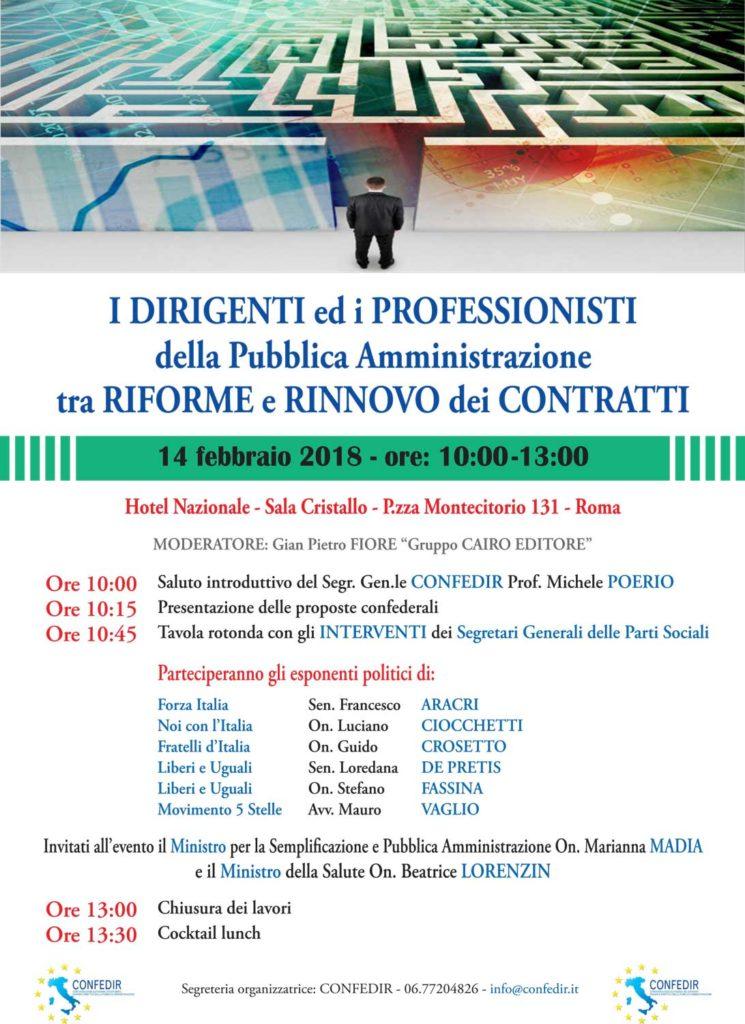 """Live stream di Confedir """"I dirigenti e i Professionisti della P.A. tra riforme e rinnovo contratti"""""""