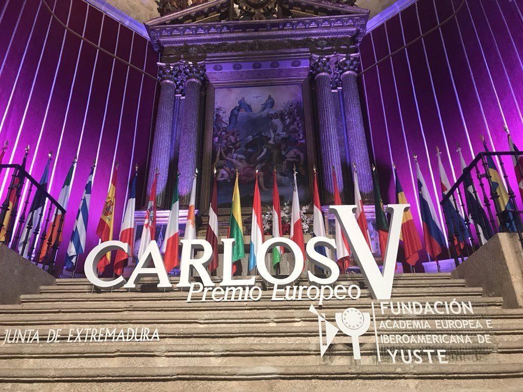 """Il Presidente del Parlamento europeo, Antonio Tajani, riceve il 9 maggio il premio """"Carlo V"""" al monastero reale di Yuste in Spagna"""