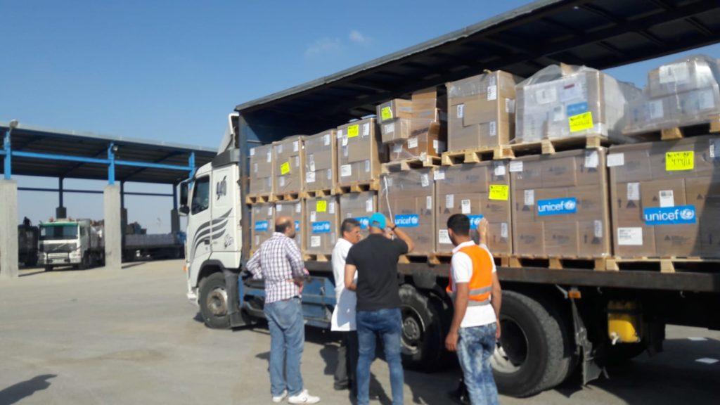 L'UNICEF consegna aiuti sanitari nella Striscia di Gaza per 70.000 persone