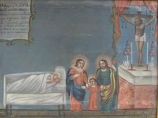 Dipinto olio su tela (XIX secolo) Chiesa della Senora de Villaseca